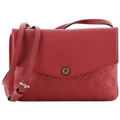 Louis Vuitton Twice Handbag Monogram Empreinte Leather