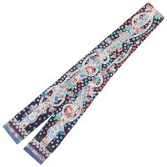 LOUIS VUITTON Twilly rope pattern Womens scarf 401910 blue