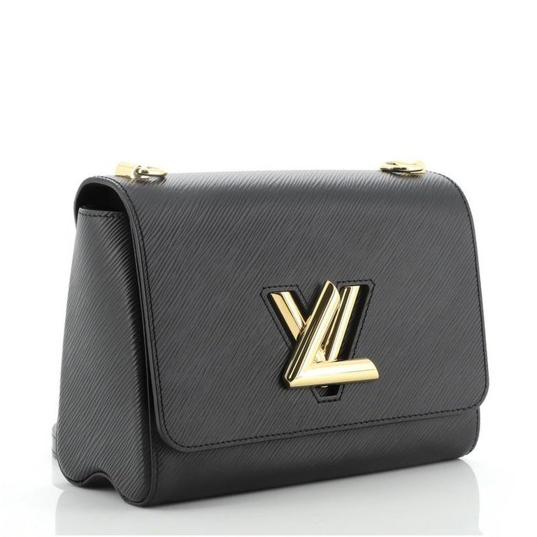 Louis Vuitton Twist and Twisty Handbag Epi Leather MM In Good Condition For Sale In New York, NY