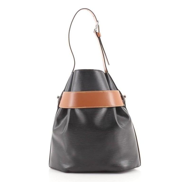 Black Louis Vuitton Twist Bucket Bag Epi Leather For Sale