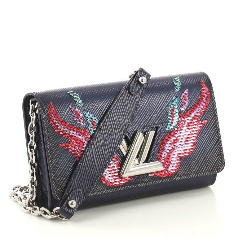 76d1c867af Louis Vuitton Twist Chain Wallet Epi Leather with Sequins