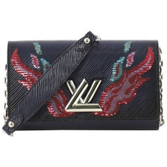 Louis Vuitton Twist Chain Wallet Epi Leather with Sequins