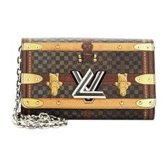 Louis Vuitton Twist Chain Wallet Limited Edition Damier Time Trunk