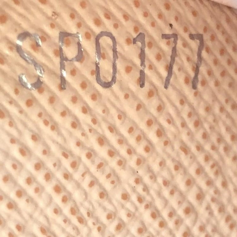 Louis Vuitton Twist Chain Wallet Limited Edition Mechanical Flowers Epi Leather For Sale 2