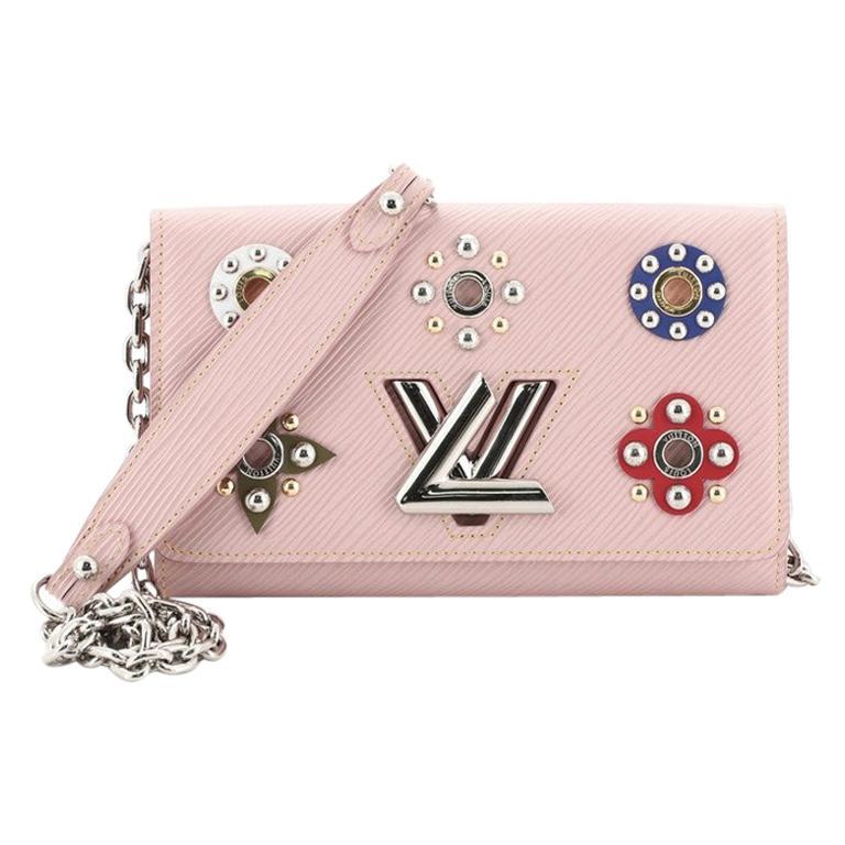 Louis Vuitton Twist Chain Wallet Limited Edition Mechanical Flowers Epi Leather For Sale