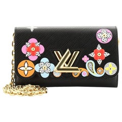 Louis Vuitton Twist Chain Wallet Limited Edition Mechanical Flowers Epi Leather