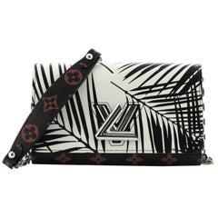Louis Vuitton Twist Chain Wallet Limited Edition Palm Print Leather