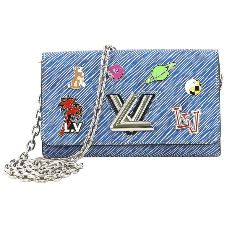 7b3079409b Louis Vuitton Twist Chain Wallet Limited Edition Pin Embellished Epi Leather