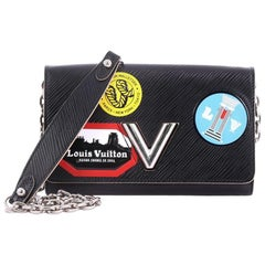Louis Vuitton Twist Chain Wallet Limited Edition World Tour Epi Leather