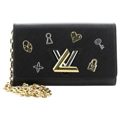 Louis Vuitton Twist Chain Wallet Love Lock Epi Leather