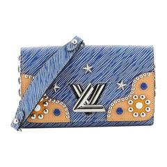 Louis Vuitton Twist Chain Wallet Studded Epi Leather