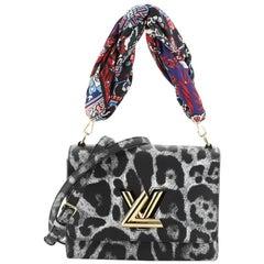 Louis Vuitton Twist Convertible Handbag Wild Animal Print Canvas MM