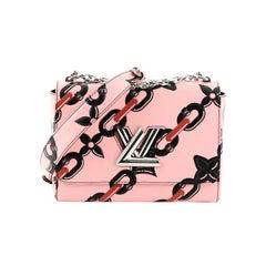 Louis Vuitton Twist Handbag Chain Flower Print Epi Leather MM