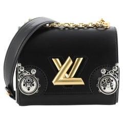 Louis Vuitton Twist Handbag Embellished Calfskin PM