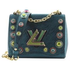 Louis Vuitton Twist Handbag Epi Leather with Flower Cabochons PM