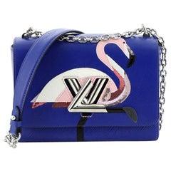 Louis Vuitton Twist Handbag Epi Leather with Sequins MM