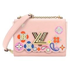 Louis Vuitton Twist Handbag Limited Edition Bloom Flower Epi Leather MM