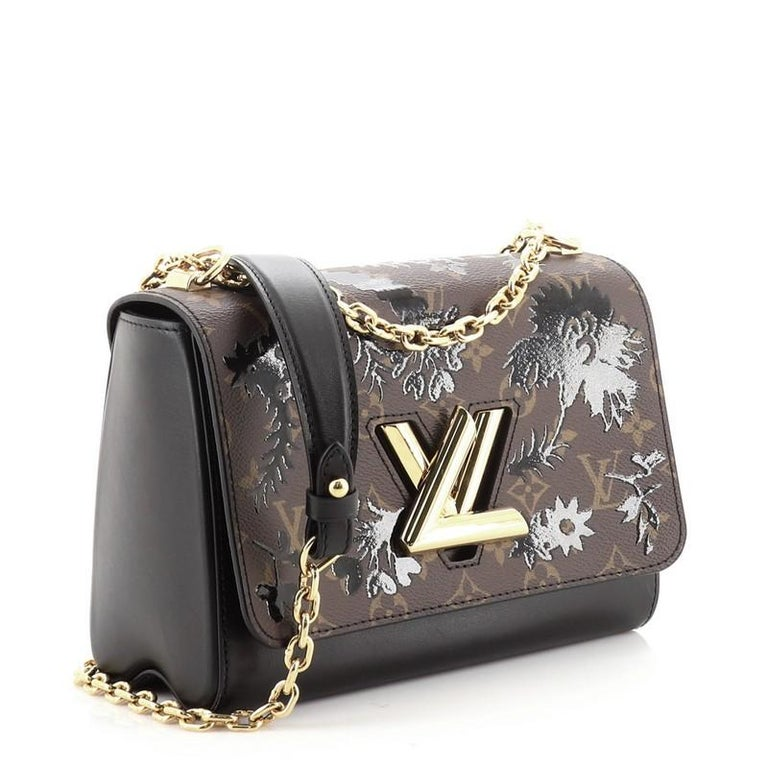 Louis Vuitton Twist Handbag Limited Edition Blossom Monogram Canvas MM In Good Condition For Sale In New York, NY