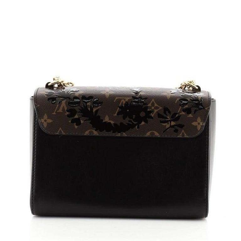 Women's or Men's Louis Vuitton Twist Handbag Limited Edition Blossom Monogram Canvas MM For Sale