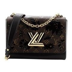 Louis Vuitton Twist Handbag Limited Edition Blossom Monogram Canvas MM