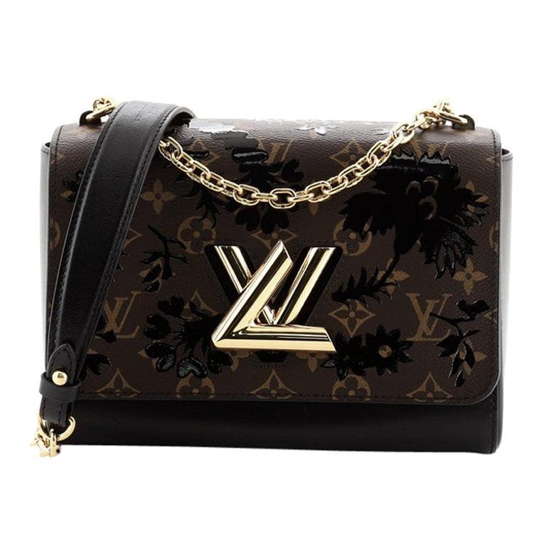 Louis Vuitton Twist Handbag Limited Edition Blossom Monogram Canvas MM For Sale