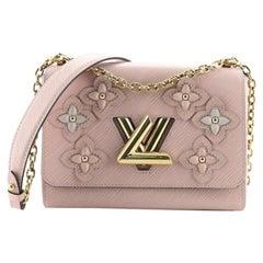 Louis Vuitton Twist Handbag Limited Edition Couture's Flower Tinsel Epi Leather