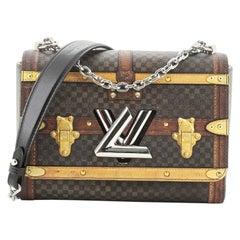 Louis Vuitton Twist Handbag Limited Edition Damier Time Trunk MM