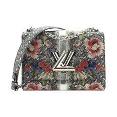 Louis Vuitton Twist Handbag Limited Edition Floral Print Epi Leather MM
