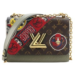 Louis Vuitton Twist Handbag Limited Edition Kabuki Stickers Monogram Canvas