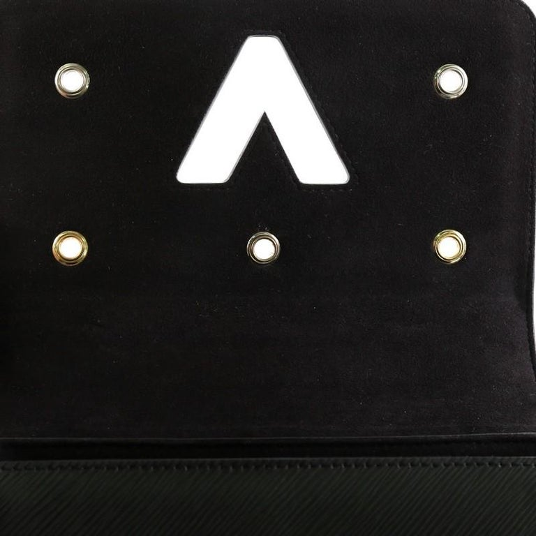 Louis Vuitton Twist Handbag Limited Edition Mechanical Flowers Epi Leather MM For Sale 2