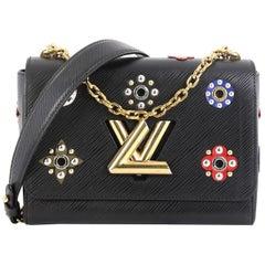 Louis Vuitton Twist Handbag Limited Edition Mechanical Flowers Epi Leather MM