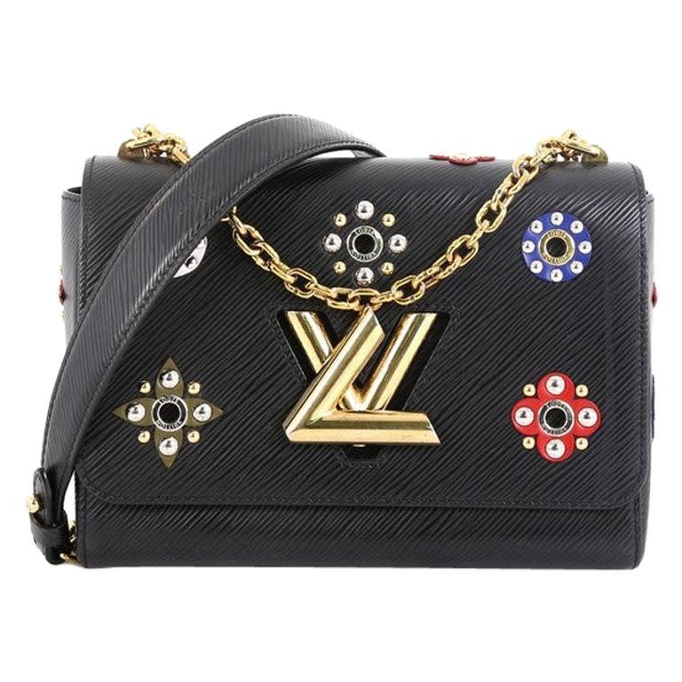 Louis Vuitton Twist Handbag Limited Edition Mechanical Flowers Epi Leather MM For Sale