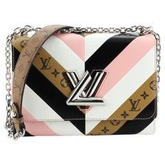 Louis Vuitton Twist Handbag Limited Edition Monogram Canvas And Leather MM