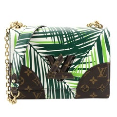 Louis Vuitton Twist Handbag Limited Edition Palm Print Leather with Monogram