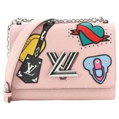 Louis Vuitton Twist Handbag Limited Edition Patches Epi Leather MM