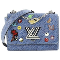 Louis Vuitton Twist Handbag Limited Edition Pin Embellished Epi Leather MM