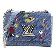 Louis Vuitton Twist Handbag Limited Edition Pin Embellished Epi Leather MM