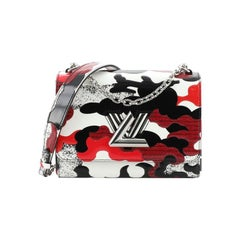 Louis Vuitton Twist Handbag Limited Edition Printed Leather MM