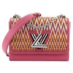 Louis Vuitton Twist Handbag Limited Edition Stitched Epi Leather MM