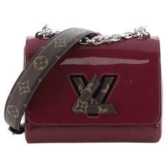 Louis Vuitton Twist Handbag Limited Edition Vernis With Monogram Canvas PM