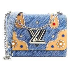 Louis Vuitton Twist Handbag Studded Epi Leather MM