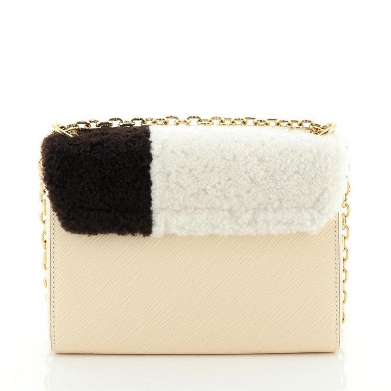 Women's or Men's Louis Vuitton Twist Handbag Teddy Fleece with Epi Leather MM For Sale