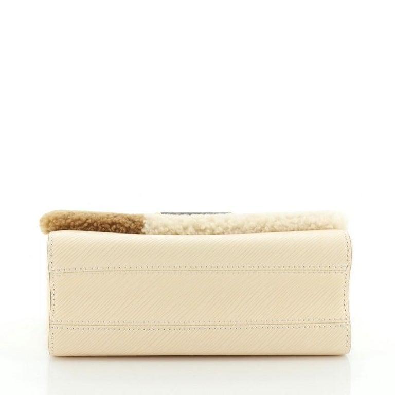 Louis Vuitton Twist Handbag Teddy Fleece with Epi Leather MM For Sale 1
