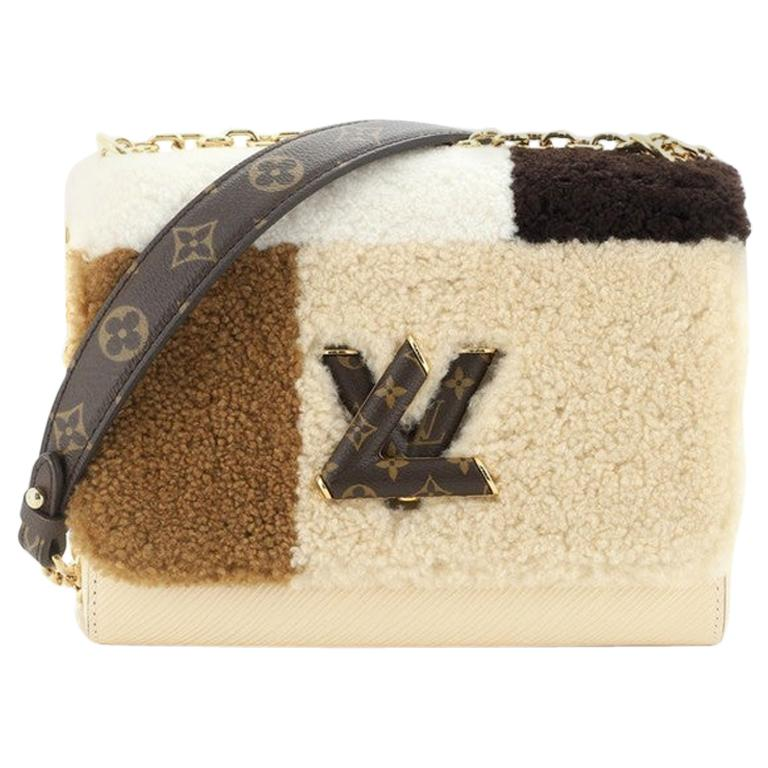 Louis Vuitton Twist Handbag Teddy Fleece with Epi Leather MM For Sale