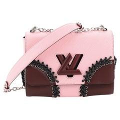 Louis Vuitton Twist Handbag Whipstitch Epi Leather MM