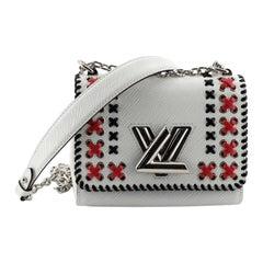 Louis Vuitton Twist Handbag Whipstitch Epi Leather PM