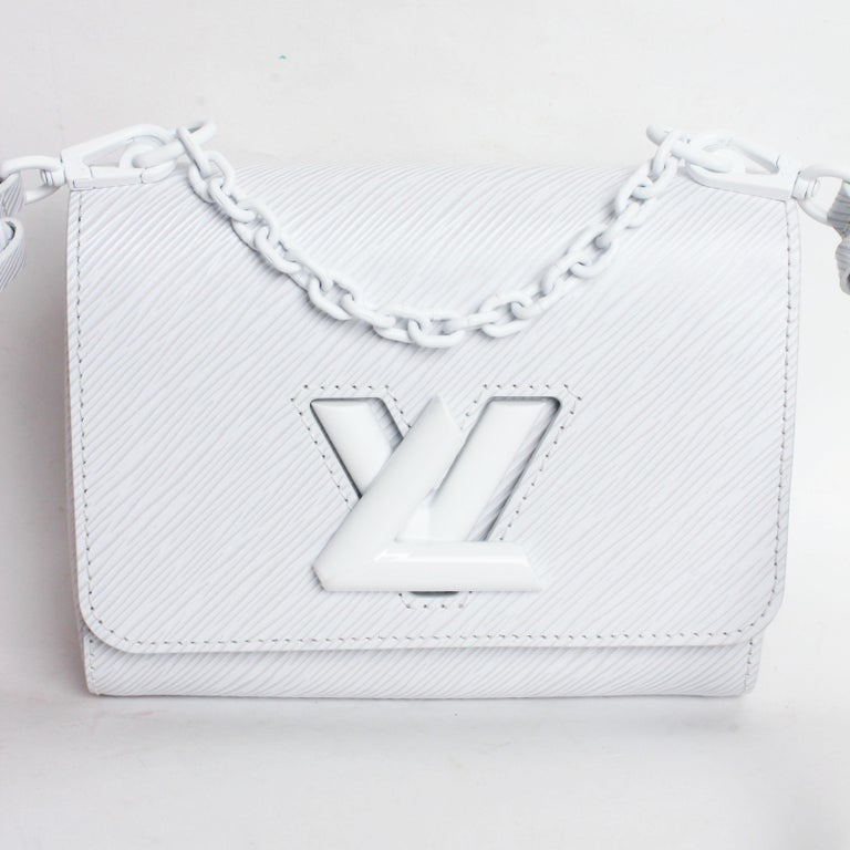 Women's or Men's Louis Vuitton Twist PM Bag White Epi Leather New In Box  For Sale