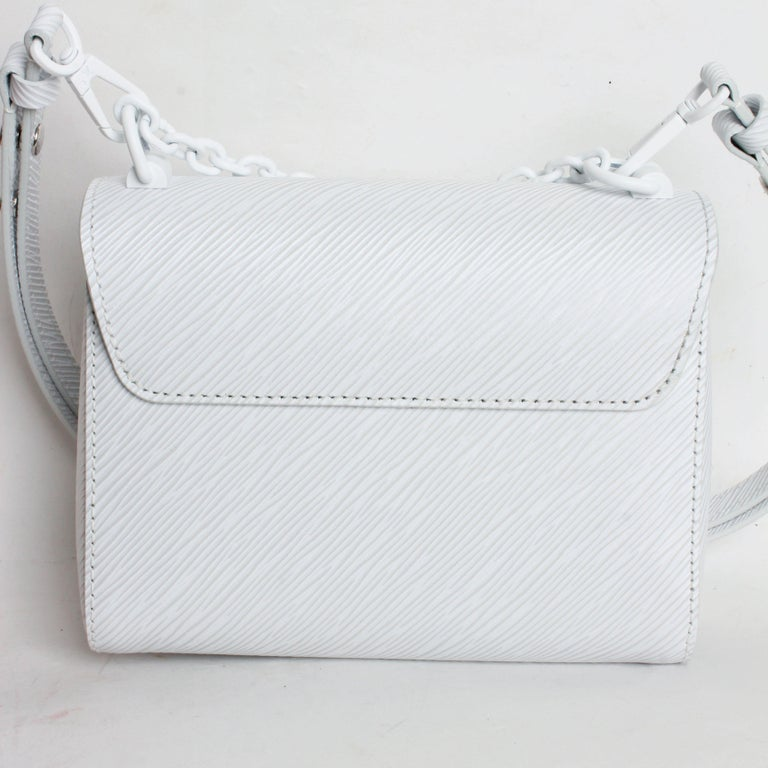 Louis Vuitton Twist PM Bag White Epi Leather New In Box  For Sale 3