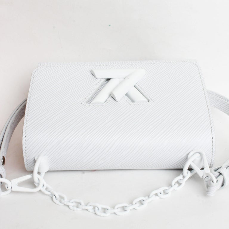 Louis Vuitton Twist PM Bag White Epi Leather New In Box  For Sale 5