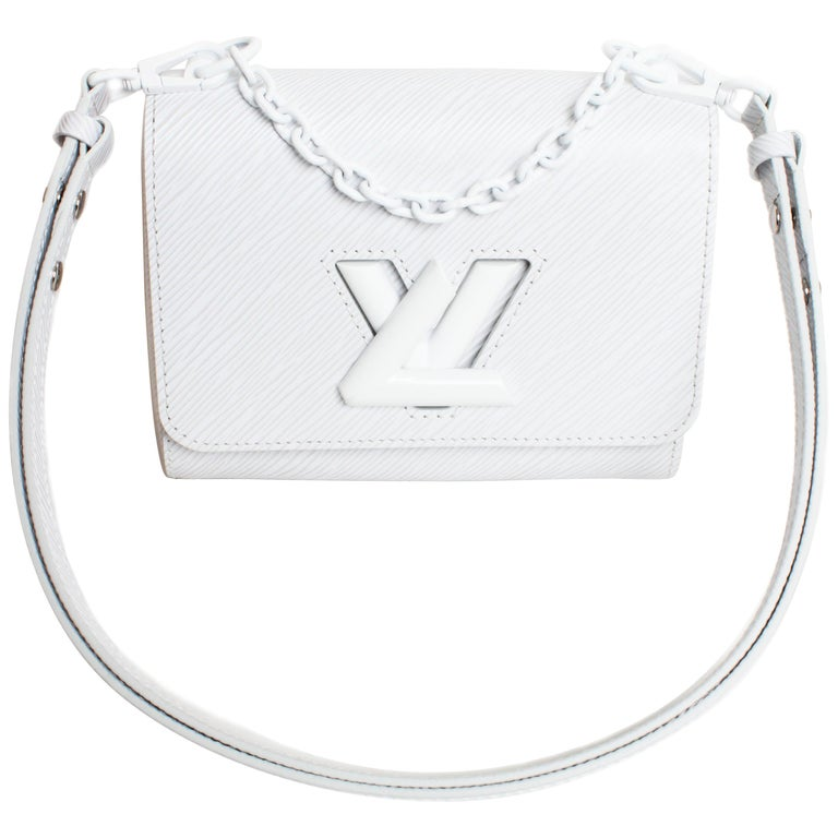 Louis Vuitton Twist PM Bag White Epi Leather New In Box  For Sale